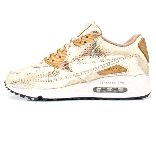 new style 0516a d6d20 nike-air-max-90-gold-crocodile-print-3